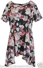 MARINA KANEVA Women Ladies Floral Textured Jersey Tunic Dress Top Plus Size