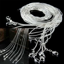 Wholesale lots Snake Chain Necklace 1mm/2mm Silver Plated Chains 16~24inch HOT