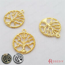 20PCS 21MM Alloy Round Tree Charms Pendants Jewelry Findings Accessories 18196