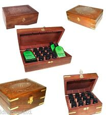 Aromatherapy Carved Wooden Box, for 24 or 12 Bottle, Indian Roswood