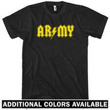 Army Rocks T-shirt - Men S-4X - US Infantry Grunt American Military USA Rock Mil