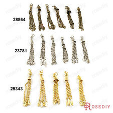 80MM Alloy Random mixed Style Tassel Charms Jewelry Findings Accessories 23781