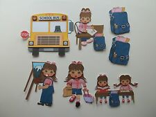 3D - U Pick - School Bus Easel Friends Girl Boy Scrapbook Card Embellishment 276