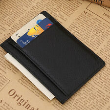 Saling Man Wallet Money Clip Credit Card Holder ID Business Leather Small Purses