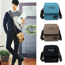 Canvas Bag Men's Vintage Tote  Bussiness Laptop Shoulder Travel Messenger Bag