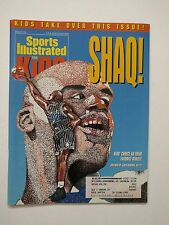 Sports Illustrated for Kids March 1995 Magazine Uncut Card Sheet - Shaq Magic