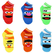 Sesame Street Little Boys 6 pack Socks N8111H
