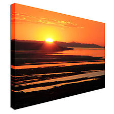 Sunset over great salt lake Canvas Wall Art prints high quality