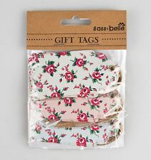 Set Of 15 Sass & belle Shabby Chic Petite Rose Gift Tags/Labels