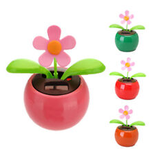 Flip Flap Solar Powered Flower Flowerpot Swing Dancing Toy Novelty Ornament YM
