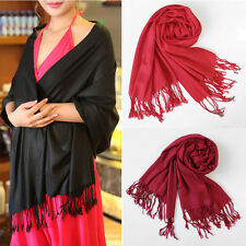 Fashion Women Autumn Winter Warm Scarf Cashmere Silk Pashmina Large Shawl Wrap