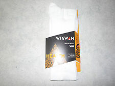 Wigwam Diabetic Walker Socks, Wigwam Diabetic Crew Socks F1221, 1 Pair, USA,Wht