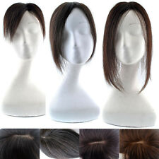 15/22/30cm Remy Human Hair Topper hairpiece replacement system toupee With Clips