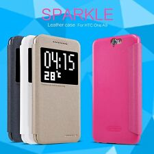Nillkin Sparkle PU Leather Flip Case Cover for HTC One A9 Aero A9W