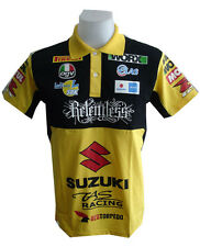 NEW SUZUKI MOTORCYCLE SPORT RACING TEAM BIKER YELLOW MENS POLO T-Shirt Sz M,L,XL