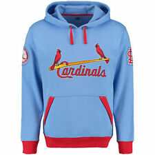 Men's St. Louis Cardinals Majestic Light Blue Reach Forever Cooperstown Pullover