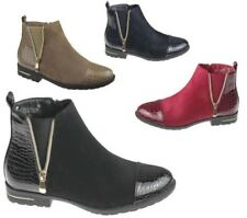 Womens Ankle Boots Ladies Desert Chelsea High Top Trainer Winter Shoes Size