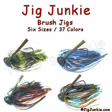 CUSTOM LURES - BRUSH JIGS - 37 COLOR OPTIONS - FREE SHIPPING!!!