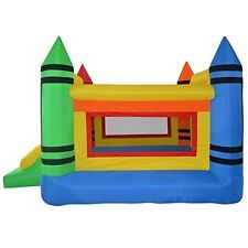 Inflatable Crayon Bounce House Moonwalk Jumper Bouncer Jump Bouncy Castle