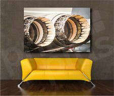 Military Fighter Jet Engine Thrust Cowlings Canvas Art Poster Print Wall Decor