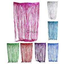 2016 Metallic Fringe Curtain Party Foil Tinsel Room Decor Door 6.5 x 3.3 ft