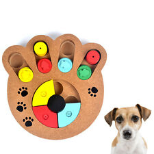 Wooden Dog Interactive Puzzle Toys Puppy Treat Dispenser Dog  IQ Training Game