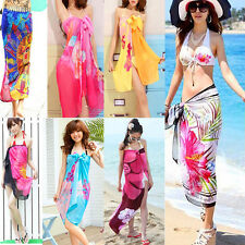 Women Sexy Cover Up Beach Wear Bikini Swimsuit Sarong Sheer Wrap Dress KG