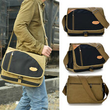 Satchel New Travel Military Laptop Vintage Men's Shoulder Bag Canvas Messenger