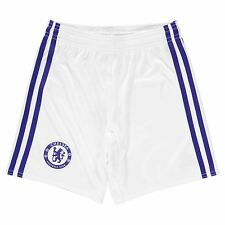 Adidas Chelsea FC Third Shorts 2016 2017 Juniors White/Blue Football Soccer