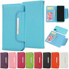 Luxury Magnetic Lichee PU Leather Removable Detachable Wallet Flip Case Cover