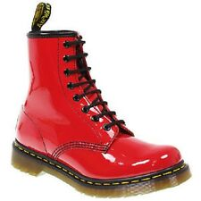 NEW AND GENUINE DR MARTENS 1460 RED PATENT 8eye BOOTS IN SIZE 7UK EU41
