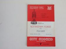 1960's & 1970's  Nottingham Forest  Football Programmes - Various Fixtures