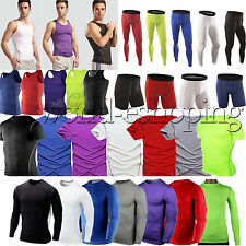 Mens Sports Compression Base Layers Tops Tight Skin T-Shirts/Vests/Pants/Shorts