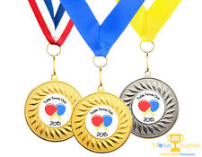 Table Tennis Medal Personalised With Your Logo + Ribbon FAST DELIVERY