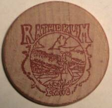 RATHDRUM DAY (IDAHO): PARADE & DAY IN THE PARK: 1988 WOODEN NICKEL / TOKEN TUIT