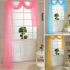 Door Curtain Valances Window Drape Panel Scarf Assorted Scarf Sheer Candy Colors