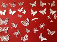 30 different DIE CUT MEMORY BOX TATTERED LACE SWIRLY BUTTERFLIES,DRAGONFLIES