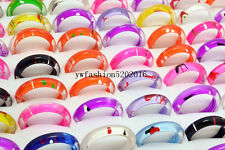 Wholesale 20Pcs Mixed Lots Cute Cartoon Children/Kids Resin Lucite Rings HOT