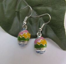 Easter enamel egg charms spring chick charms dangle earrings religious holiday