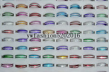 100ps Wholesale Mixed Lots Aluminum Alloy Silver Plated Rings Jewelry FREE