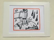 "KEITH HARING: Original Limited Edition Lithographs ""PLANET EARTH"", not signed #1"