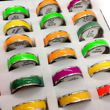 Wholesale Mixed Colors  Noctilucent Rings Couple Stainless Steel jewelry rings
