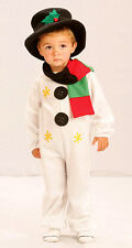 BOYS GIRLS SNOWMAN CHRISTMAS XMAS TODDLER FANCY DRESS COSTUME OUTFIT & HAT NEW