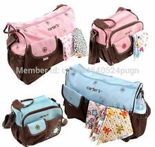 Cute Baby Diaper Nappy Bag Changing Mother's Shoulder Handbag Blue/Pink