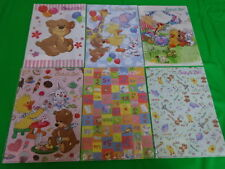 Suzy's Zoo A4 Clear File Folder Witzy Boof Lulla Ellie Funt Patches 6 Set NEW