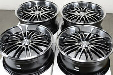 18 5x112 Polished Black Wheels Fits Volkswagen Passat Phaeton Benz Tiguan Rims