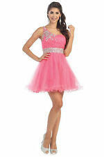 Short Homecoming Dresses One Shoulder Tulle Mini Prom Dress