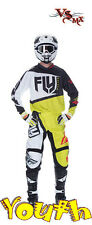 "Fly 2017 F-16 Youth Jersey (S-XL) & Pant (18""-28"") Motocross Kit (BLACK/LIME)"