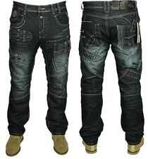 MENS  ETO FUNKY STYLISH LATEST STRAIGHT FIT FASHIONABLE JEANS SIZES 28 TO 42