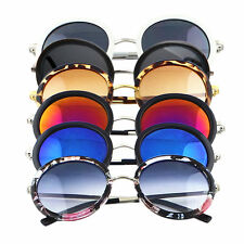 Women's Unisex Fashion Vintage Eyewear Retro Round Mirror Lens Sunglasses KG